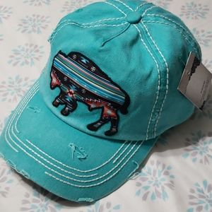 Kbethos Vintage buffalo native design cap hat NWT